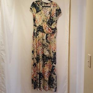 Snap Maxi Fashionable Dress Multi-colors